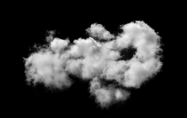 Nuvole bianche sul muro nero