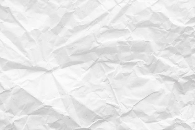 Trama di sfondo astratto di carta stropicciata bianca