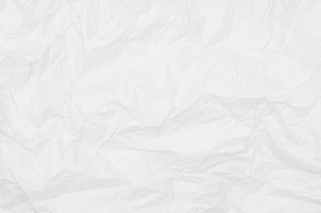 Struttura di carta stropicciata bianca, muro bianco, carta da parati
