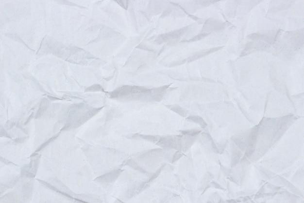 Texture di carta da imballaggio stropicciata bianca