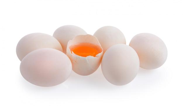 Uova bianche su bianco