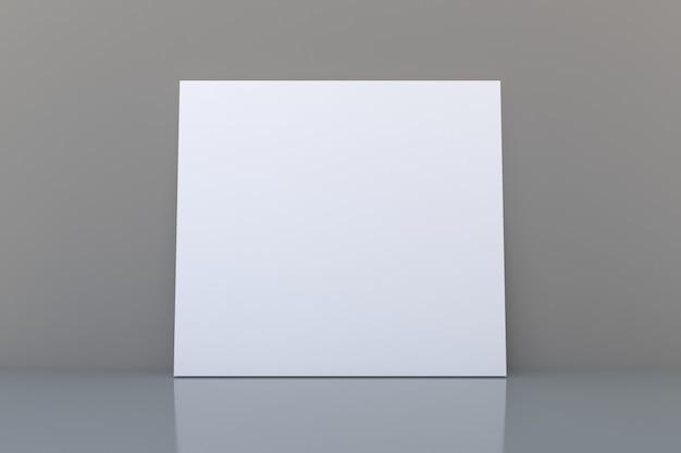 Modello di cornice vuota bianca