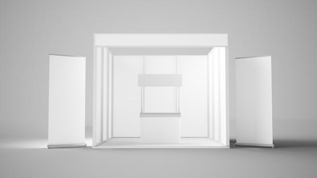 Design bianco per stand fieristico