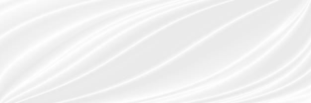Sfondo in tessuto bianco con copia spazio