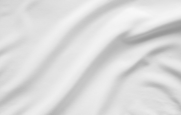Fondo liscio della superficie di struttura del tessuto bianco