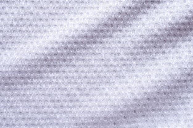 Maglia da calcio per abbigliamento sportivo in tessuto bianco con sfondo texture air mesh