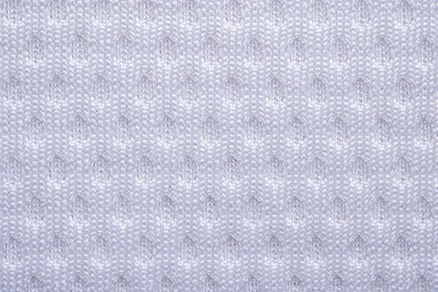 Trama di abbigliamento sportivo in tessuto bianco