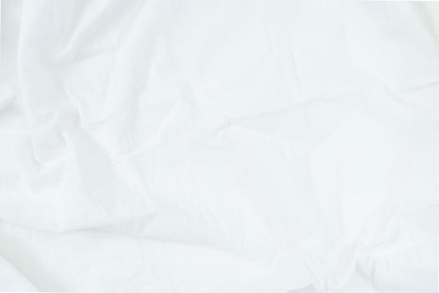 Priorità bassa di struttura del tessuto bianco, priorità bassa di struttura del tessuto di raso bianco Foto Premium