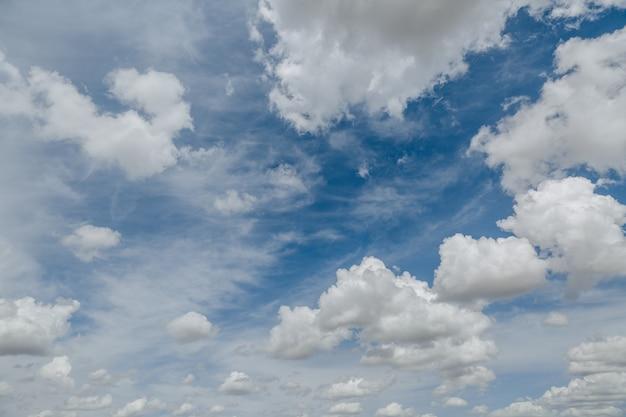 Bianche, soffici nuvole nel cielo blu