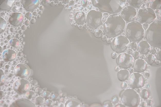 Primo piano bianco del fondo dell'estratto di struttura della schiuma