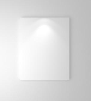 Cornici bianche sul muro con downlight