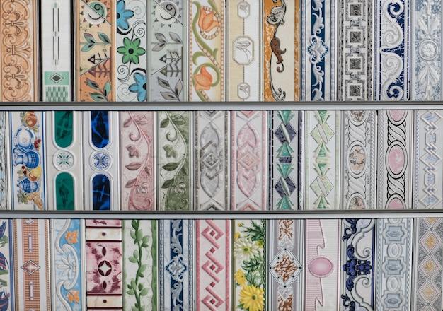 Motivo a mosaico astratto geometrico bianco