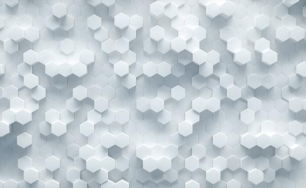 Fondo astratto esagonale geometrico bianco