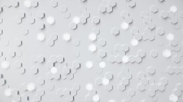 Astratto geometrico bianco a nido d'ape esagonale