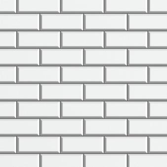 Struttura della parete di mattoni lucidi bianchi