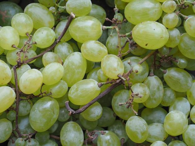 Cibo a base di uva bianca