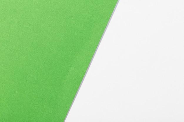 Sfondo di carta bianca e verde