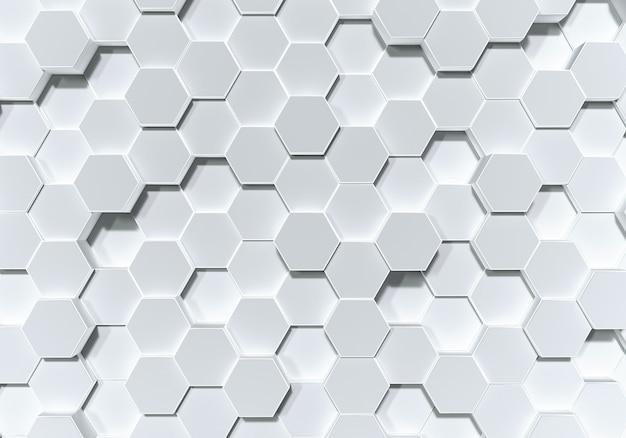 Sfondo di forma a nido d'ape esagonale bianco