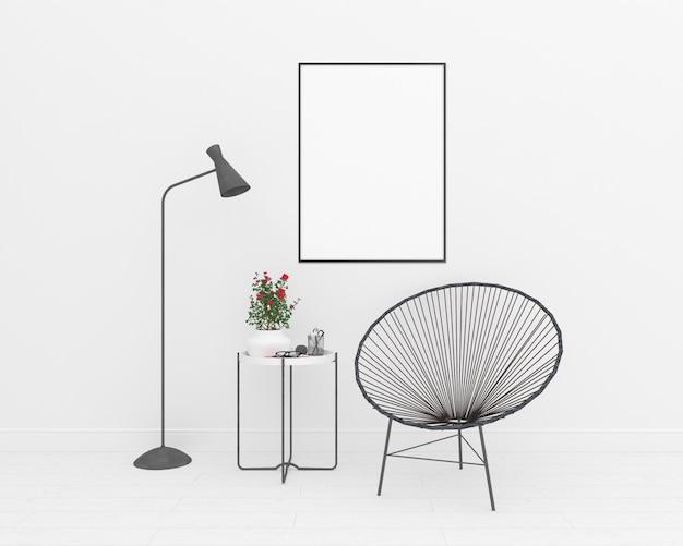 Interno bianco - modello di telaio verticale