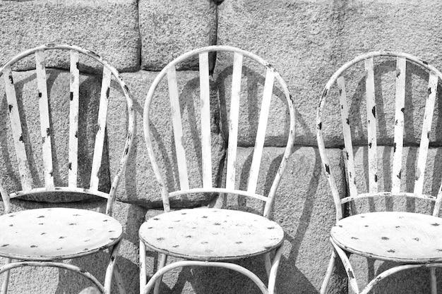 Sedie in ferro bianco