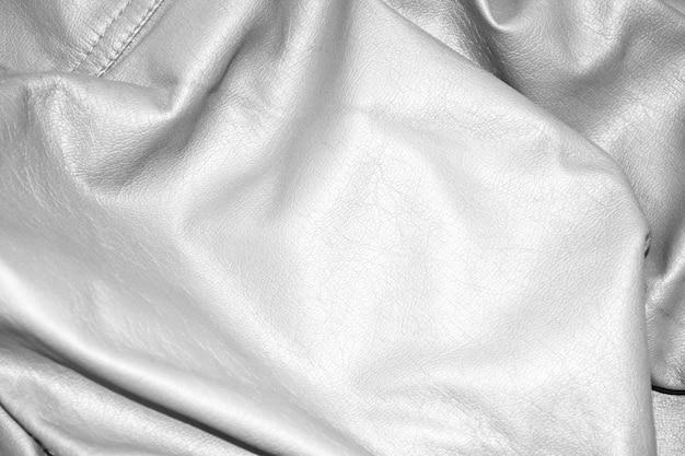 Texture in pelle di lusso bianca come sfondo
