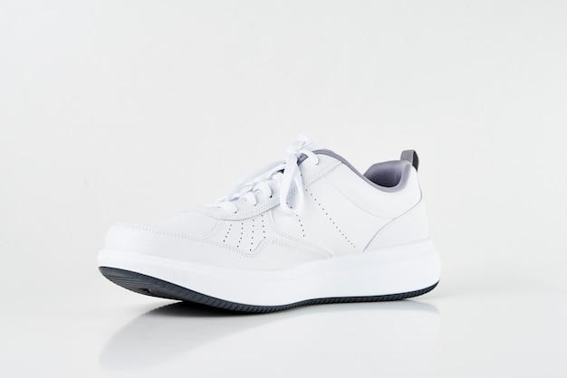 Scarpa da tennis maschio bianca su bianco