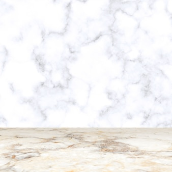 Fondo dell'esposizione del prodotto della stanza di marmo bianco