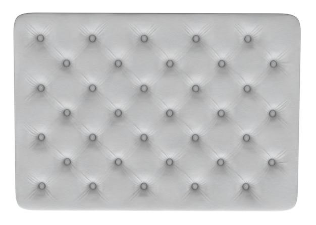 Rendering 3d della trama del materasso bianco