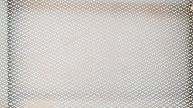 Sfondo di rete metallica bianca