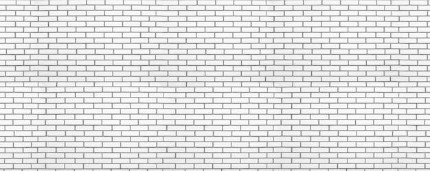 Fondo panoramico del muro di mattoni moderno bianco. sfondo per il design dell'ufficio