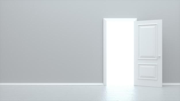 Porta aperta bianca