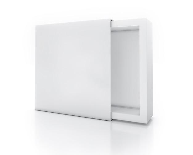 Scatola vuota aperta bianca per la presentazione del prodotto