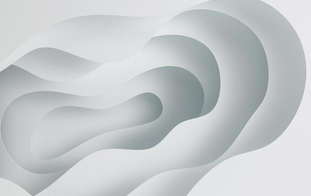 Fori delle onde astratte del fumetto di arte del libro bianco la carta scolpisce lo sfondo