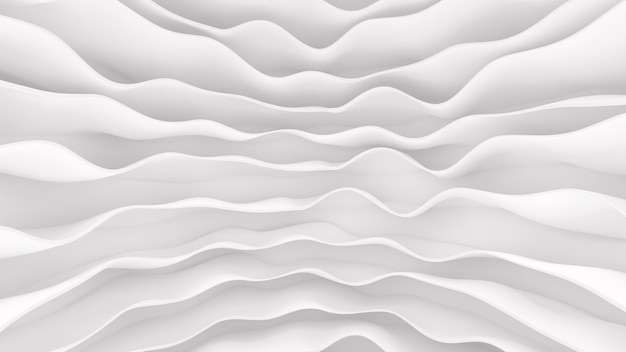 Modello bianco di strisce ondulate futuristiche