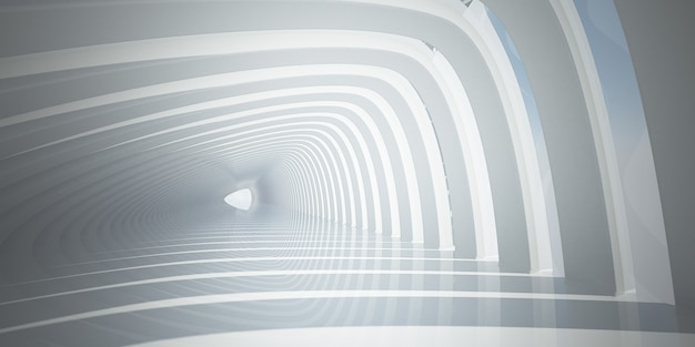 Tunnel a tonalità bianca