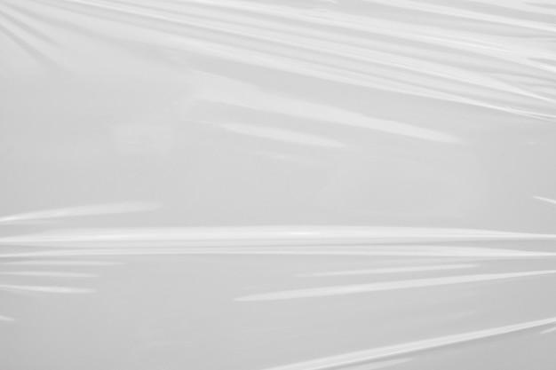 Fondo di struttura dell'involucro di pellicola di plastica bianca