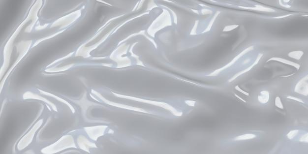 Rughe di plastica bianca foglio di silicone rughe tacche di sfondo del foglio di gomma illustrazione 3d