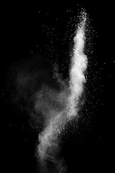 Nube di esplosione di polvere bianca