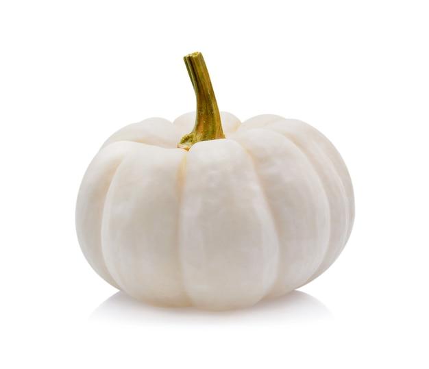 Zucca bianca su sfondo bianco