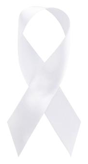 Nastro bianco per aumentare la consapevolezza sul cancro ai polmoni