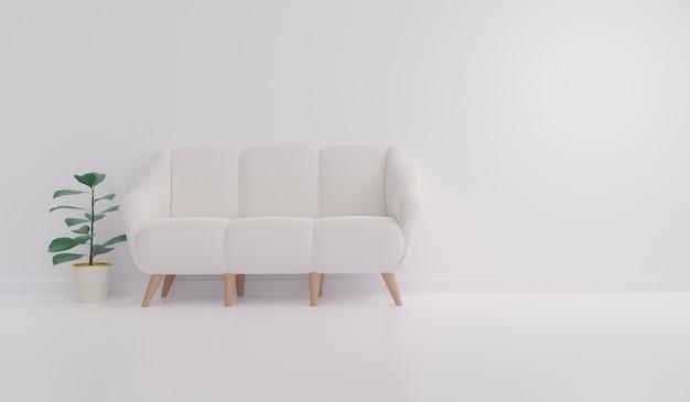 Camera bianca con divano