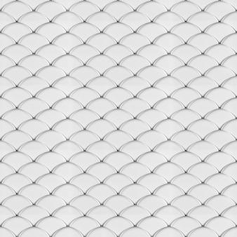 Render 3d del modello senza cuciture geometrico delle scale bianche