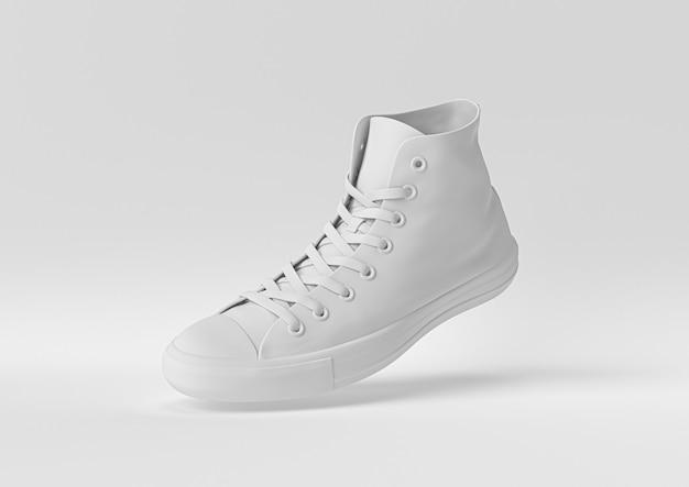 Scarpa bianca. 3d rendono, illustrazione 3d.