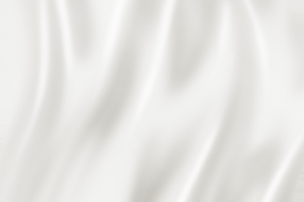 Trama di sfondo di seta bianca. illustrazione 3d