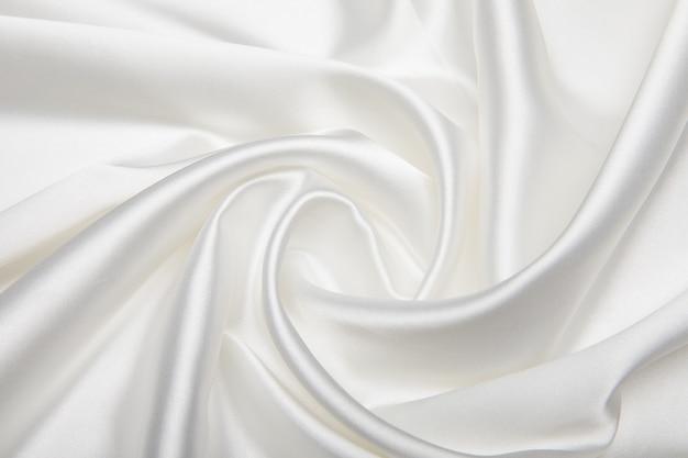 Struttura materiale di seta bianca