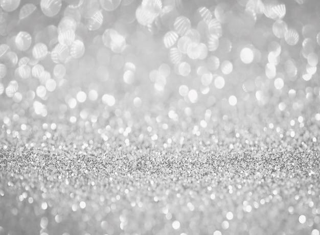 Priorità bassa di struttura astratta di bokeh glitter argento sfumatura bianca