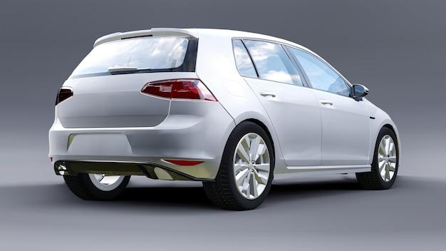 Piccola rappresentazione bianca della berlina 3d dell'automobile della famiglia
