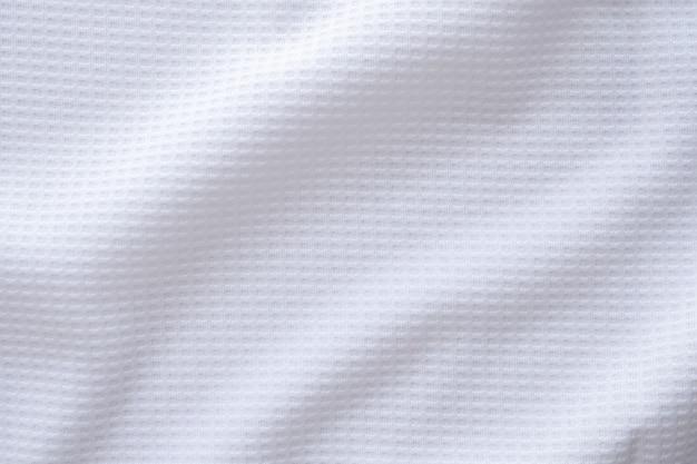 Bianco abbigliamento sportivo tessuto maglia da calcio jersey texture di sfondo astratto