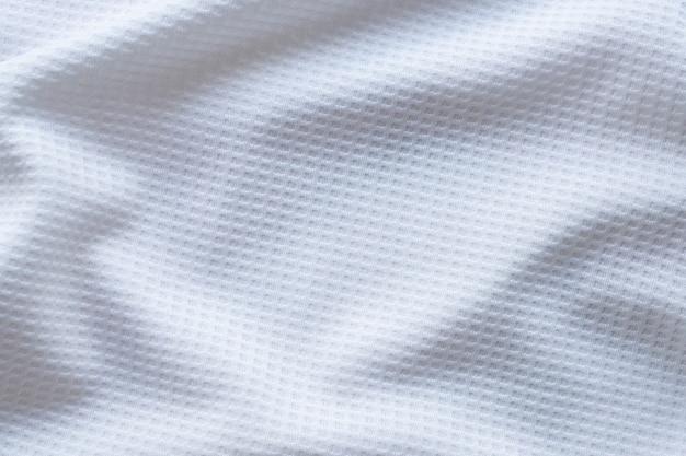 Bianco abbigliamento sportivo tessuto maglia da calcio jersey texture astratta