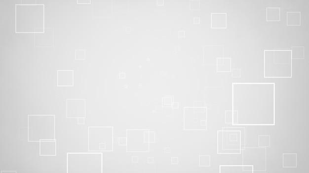 Movimento di quadrati bianchi, sfondo astratto. stile geometrico dinamico elegante e lussuoso per affari, illustrazione 3d